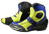 New Short Style Ankle Motorcycle Leather Boots - Rossi VR