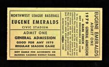 >orig. 1979 EUGENE EMERALDS *Minor League Baseball UNUSED Ticket* Eugene, Oregon