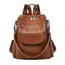 ABage Women's Washed Leather Backpack Purse Handbag Travel College, Brown