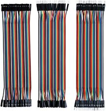 120pcs Multicolored Dupont Breadboard Jumper Wires Ribbon Cables Kit For Arduino