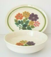 "Franciscan Ware ""Floral"" pattern, 1970s, Platter and Vegetable Serving Bowl"