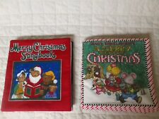 Set of 2 Mary Engelbreit Cloth Children's Christmas Book and Cloth Songbook