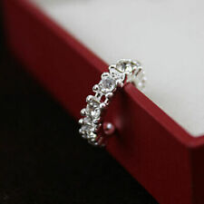 Fashion 925 Silver Ear Cuff Wrap Rhinestone Cartilage Clip Earring Non Piercing