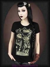 Gothic Damenblusen, - tops & -shirts mit Rundhals-Ausschnitt in Größe XL