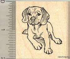 Puggle dog Rubber Stamp H11818 Wm pug beagle mix