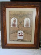 Vintage Beautiful PictureFrame 25 1/2 x 21 1/2 Marriage Lic 1892 19 1/2 x 15 1/2