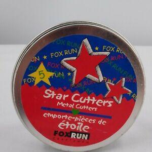 Fox Run Stainless Steel Cookie Cutters, Stars, 5-Piece Set