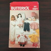 Vintage original 1980s Butterick sewing pattern 291 Cabbage Patch doll clothes
