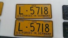 1958 US Forces in Germany License Plate Set