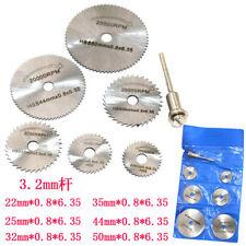 New sale 7PCS HSS Rotary Circular Saw Blades Tool Cutting Discs 3.2mm Mandrel