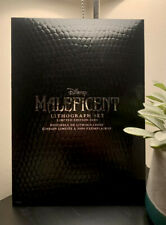More details for maleficent limited edition lithographs - disney store collectors prints designer