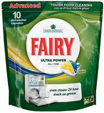 Fairy Ultra Power All in 1 Dishwasher Tablets (10 Pack) Lemon Capsules