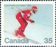 Canada  Sc# 848  DOWNHILL SKIING Lake Placid   1980  MNH mint