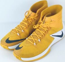 f57fc2eec90c8c New Nike ZOOM CLEAR OUT Men s Yellow White Basketball Shoes Size 15   856486-771