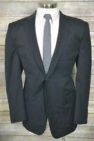 Calvin Klein Mens Black Wool Blend 2 Button Blazer Sport Coat Jacket SIZE 44L