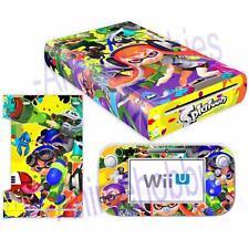 Nintendo Wii U Console Controllers Skin Kit Splatoon 2 Vinyl Decals Sticker Case