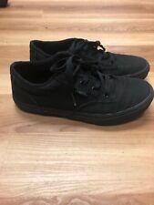 Vans Black Canvas Shoes Lace Up Skate Size 6