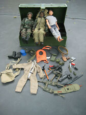 "Classic G.I. Joe 12"" 1/6 Mixed Lot w/Footlocker"