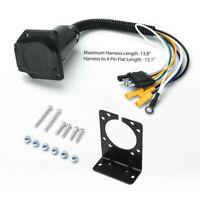 4 Way Flat to 7 Way RV Blade Trailer Light Wiring Adapter + Plug + Bracket  Kit | eBaywww.visiontek.co.in