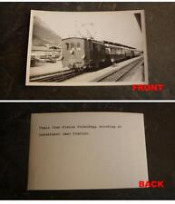 ORIGINAL VINTAGE RAILWAY PHOTO, AUSTRIA RAILWAY INTERLAKEN EAST STATION