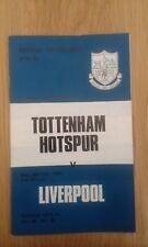 Tottenham Hotspur v Liverpool 1973/74 Football Programme