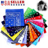 3/12 PCS Bandana Paisley 100% Cotton Face Mask Head Wrap Scarf Neck Handkerchief