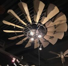 "NEW Quorum 95210-86 Windmill 52"" Ceiling Fan, Oiled Bronze  Light Kits Available"
