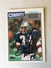 Herschel Walker VINTAGE HAND SIGNED ON CARD 1987 Topps Rookie w/COA MINT