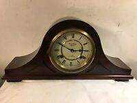 Vintage Strausbourg Manor Mantel Clock Mechanical.winds&Runs.SEE12pix.MAKE OFFER