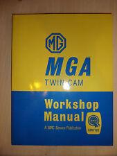 MG MGA 1588cc Twin Cam Factory Workshop Repair Manual 1969