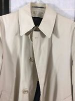 Men's Hart Schaffner Marx 36 R Trench Coat With Belt Zip Out Wool Lined Khaki