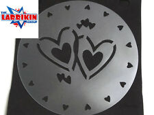 Stencil For Cakes Craft etc 2 Joined Hearts Surrounded By Smaller Hearts