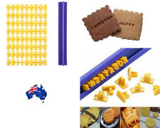 Fondant Cake Alphabet Letter Number Cookies Biscuit Stamp Embosser Mold AU