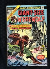GIANT-SIZE WEREWOLF BY NIGHT #5 Marvel (1975) Kane & Palmer Cover, Moench [A3]