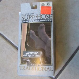 Antique PAIR Buckskin Brand Boys Black 21 Long Heavy Hosiery Stockings Socks with Original Label Unused New Old Stock NOS