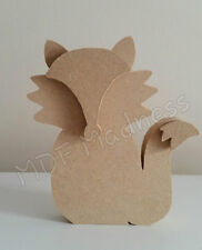 MDF CRAFT SHAPE. WOODEN 3D FOX. 18MM FREE STANDING. 15CM HIGH