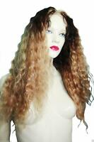 HUMAN HAIR Wavy Glueless Silk Top T-Color Indian Remi Remy Full Lace Wig Long