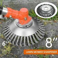 Grass Strimmer Head Trimmer Brush Solid Steel Wire Wheel Garden Weed 6''/8'' US