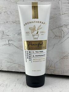 Bath & Body Works Aromatherapy Peaceful Tea Tree Peppermint Body Cream 8 Oz New