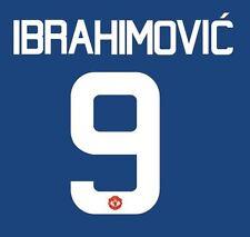 Ibrahimovic 9 Manchester United 2017 Europa Final Away Football Nameset 4 shirt