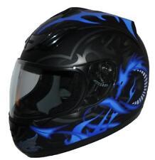 Motorradhelm Integralhelm schwarz blauer Drache H510-11BL mit versch. Visieren