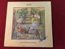 GENESIS SELLING ENGLAND BY THE POUND SIGNED VINYL LP ALBUM  STEVE HACKETT PROOF