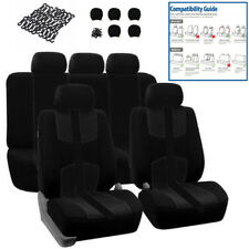 Universal 5 Seats Front+Rear Full Set Auto Car Seat Cover Cushion Protector Mat