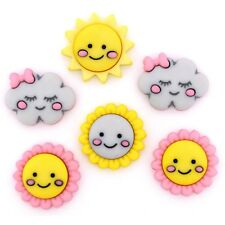Jesse James Buttons - Dress It Up - HELLO SUNSHINE 10403 - Clouds Sun -Sew Craft