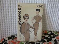 50s-60s Advance dress& jacket Pattern 9632 18.5/39 bust