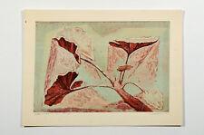 "MORTON TRAYLOR 1949 signed serigraph ""Geranium"" Mid Century California Lebrun"