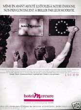 Publicité advertising 1990 Hotel Mercure