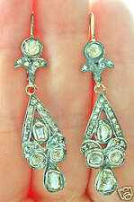 VINTAGE ESTATE ART NOUVEAU 18K 2.80ct DIAMOND EARRINGS!