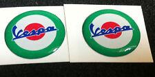2 Adesivi Resinati Stickers 3D VESPA 2 cm rosso e verde