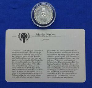 Äthiopien - 20 Birr 1980 PP/Proof - JAHR DES KINDES - mit Zertifikat